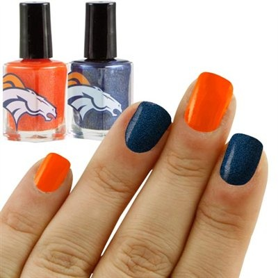 Orange and Blue 2-Pack Nail Polish