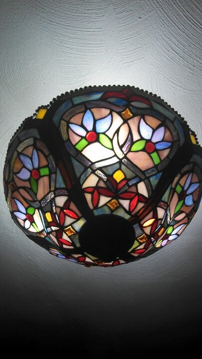 stained glass light fixture stained glass pinterest. Black Bedroom Furniture Sets. Home Design Ideas
