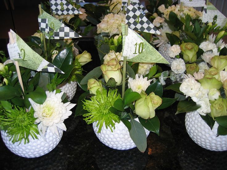Ladies golf table decorations ideas photograph golf center for Golf centerpiece ideas