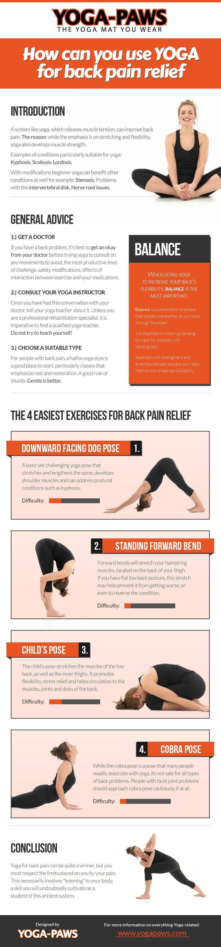 Infographic: Yoga Poses for Back Pain