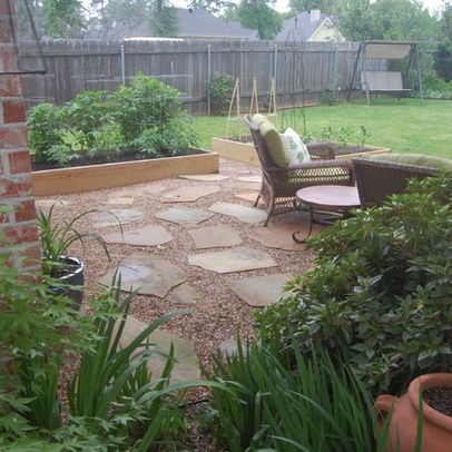 crushed granite look for patio concrete patio ideas