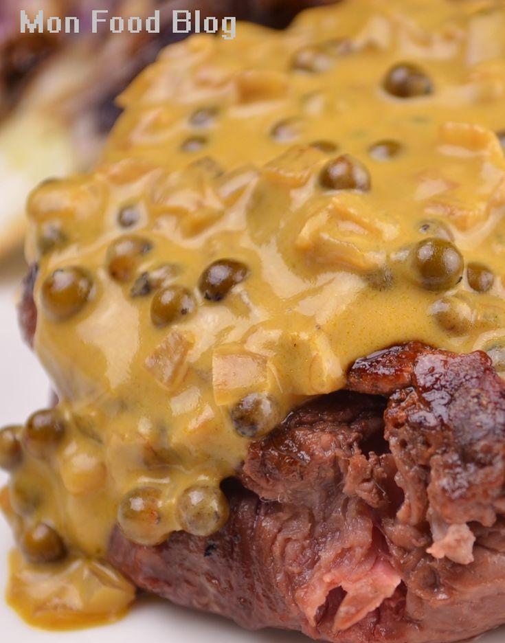 Steak au Poivre ~ shallot, butter, beef broth, green peppercorns in ...