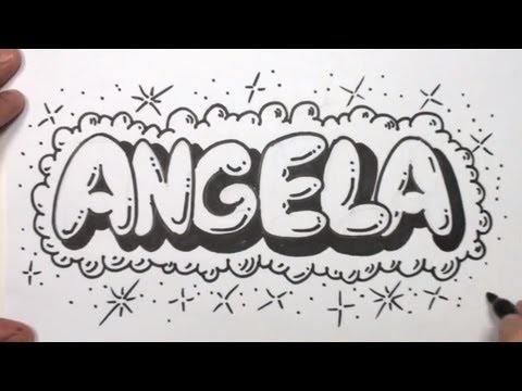 bubble letter video   Lettering   Pinterest