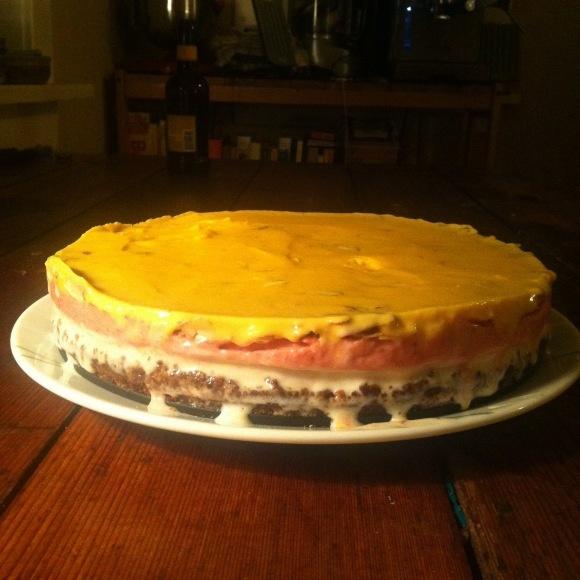 toast strawberry ice cream cake cookie ice cream cake chiffon cake