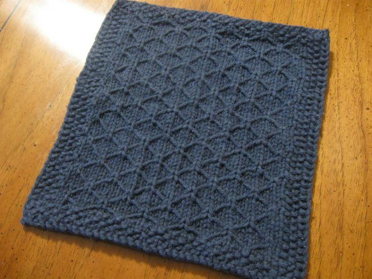 Free knit washcloth pattern Washcloths Pinterest