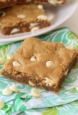 Biscoff White Chocolate Chip Blondies Recipe on twopeasandtheirpod.com ...