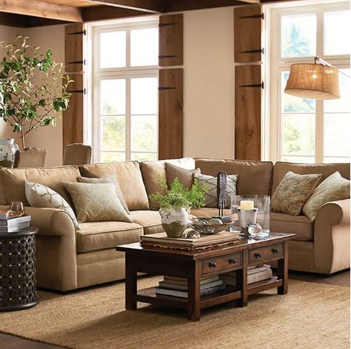 Pottery Barn Love This Color Sofa Living Family Room Pinterest