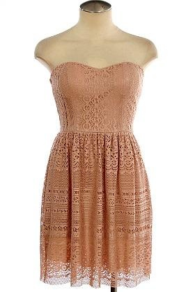 Pink Dress on Lace Pink Strapless Dress   My Style