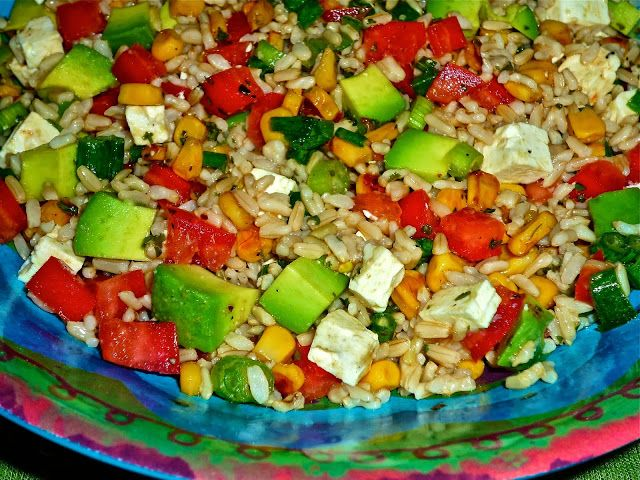 ... Featuring Chunky Mexican Brown Rice Salad with Cliantro-Lime Dressing