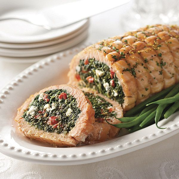 this unique roast. The salmon is folded around a delicious spinach ...