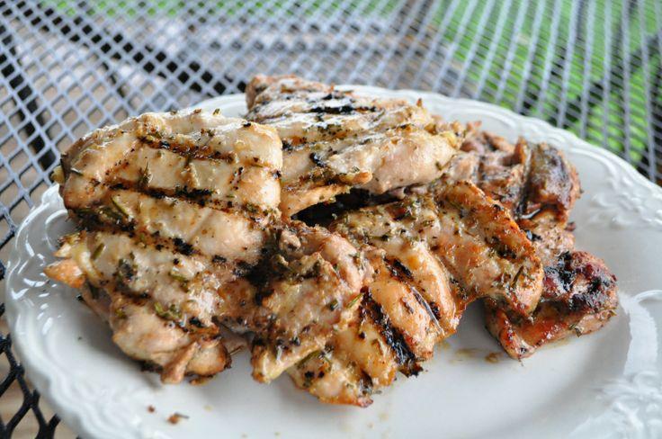 grilled rosemary garlic chicken recipe | Food | Pinterest