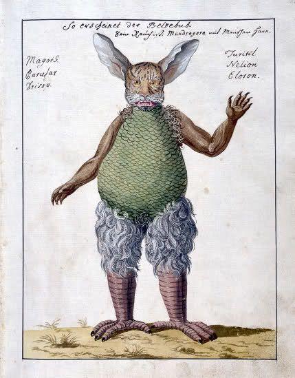 Beelzebub, from Compendium rarissimum totius Artis Magicae, 1775