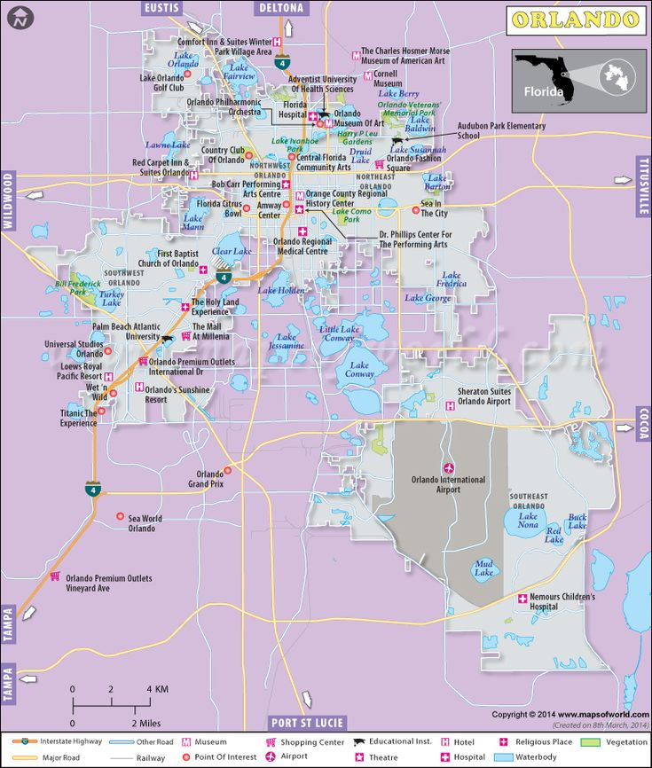 Orlando Map DISNEY Pinterest
