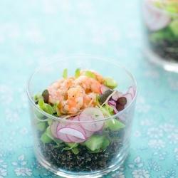 Shrimp & Black Quinoa Salad