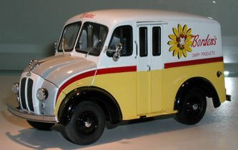 Divco Milk Truck. Borden's was popular brand in Wisconsin, and these trucks were common in the day.