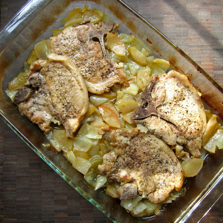 Baked Pork Chops with Onions and Apples | PORK, the other white meat ...