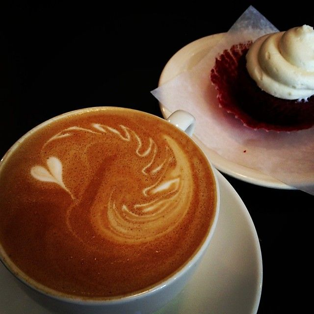 whole latte love and a red velvet cupcake from Urban Standard make ...