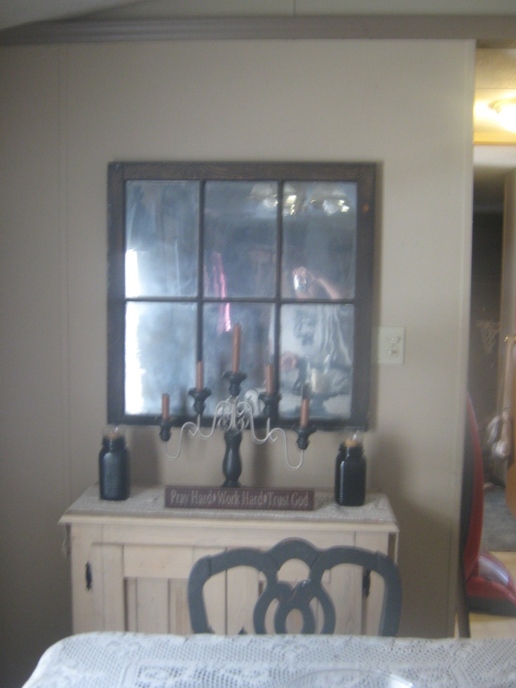 an antique mirror made with krylon 39 s looking glass spray. Black Bedroom Furniture Sets. Home Design Ideas