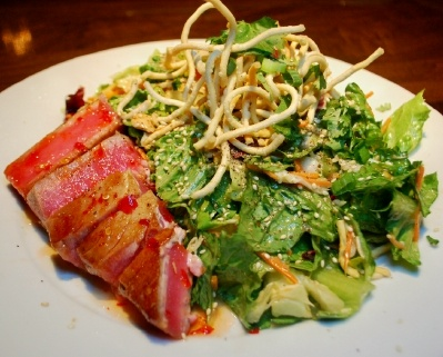 Asian Ahi Tuna Salad @ Zea's Rotisserie and Grill, New Orleans, La