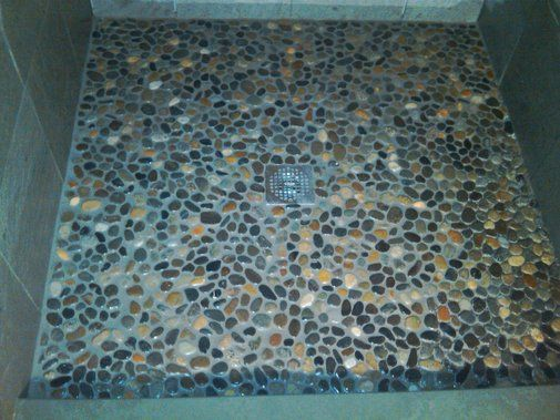 River Rock Shower Floor