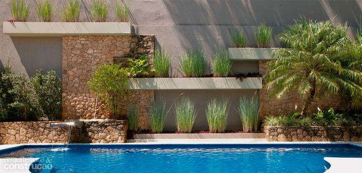 plantas jardins tropicais : plantas jardins tropicais:Pin by Zoy Maria on piscinas próximas ao muro