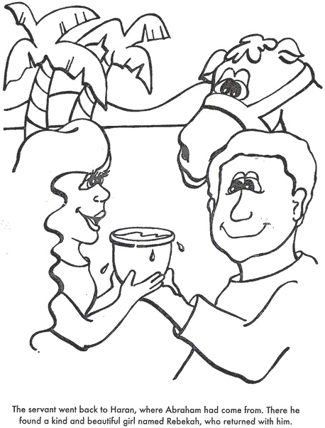 BIBLE COLORING PAGES Isaac Finds A Wife