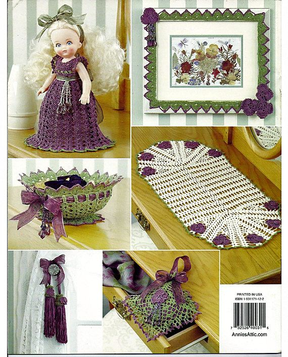 Annies Crochet Patterns : Lovely & Lacy Home Decor Crochet Pattern Annies Attic 873952. back ...