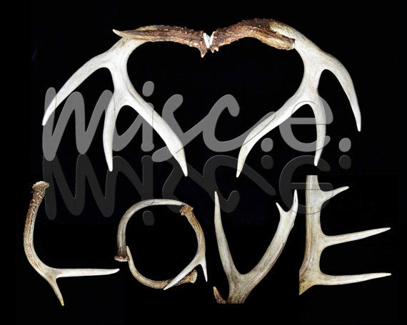 Love And Heart Whitetail Buck Shed Deer Antler Hunting