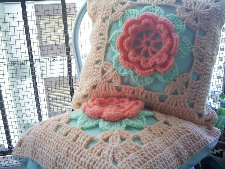 Almohadon Tejido - Crochet | Estrella de mar - Tejidos | Pinterest