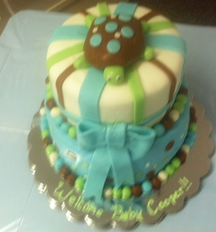 Turtle Cake - baby shower or birthday!