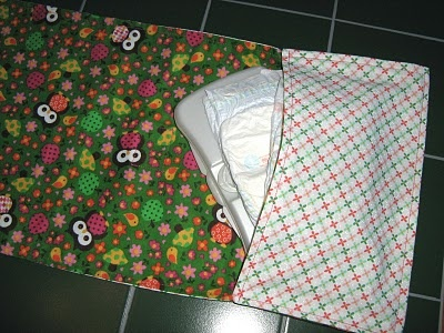 This diaper changing pad looks easy to make and would be a cute baby shower gift.
