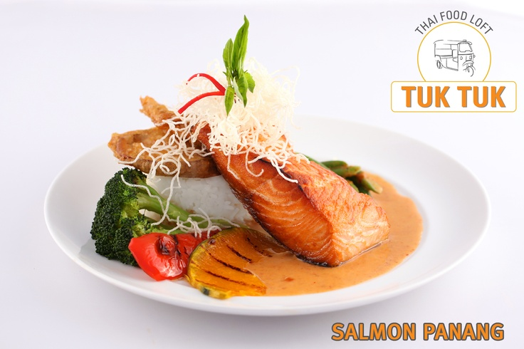 Salmon Panang: Grilled of wild caught Salmon in a panang curry sauce ...