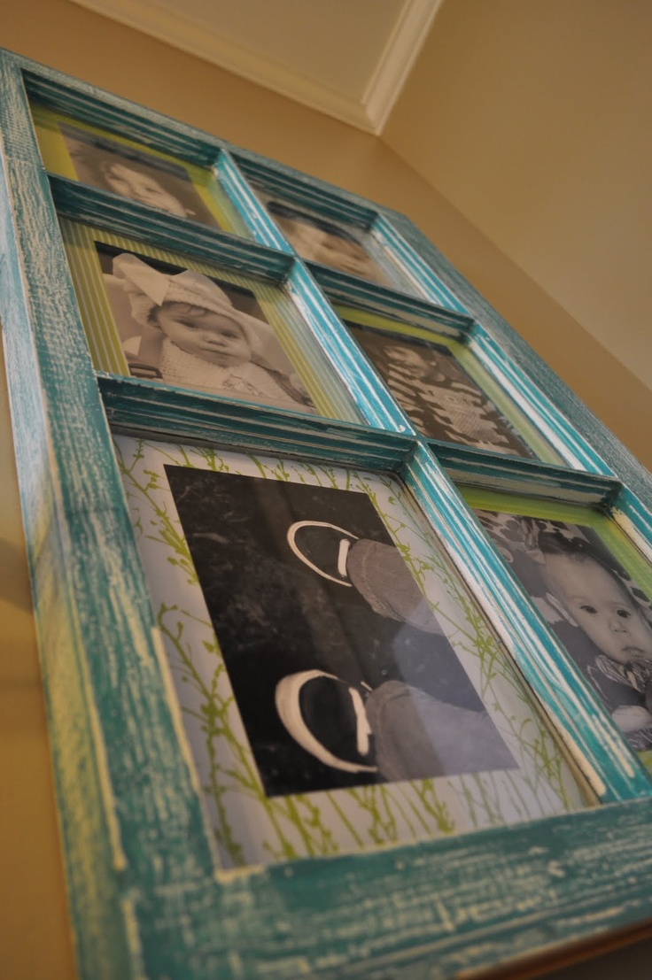 Decorating ideas using old windows make this pinterest for Using old windows as picture frames