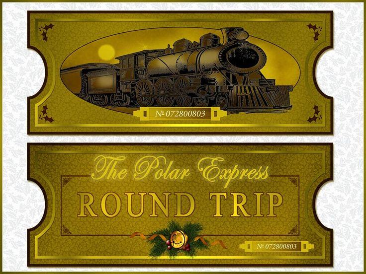 PRINTABLE Polar Express Tickets Polar Express Pinterest