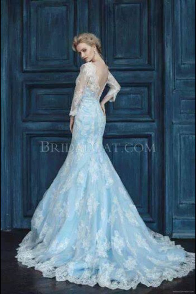 Elsa from frozen inspired dress wedding stuff for for Blue lace wedding dress
