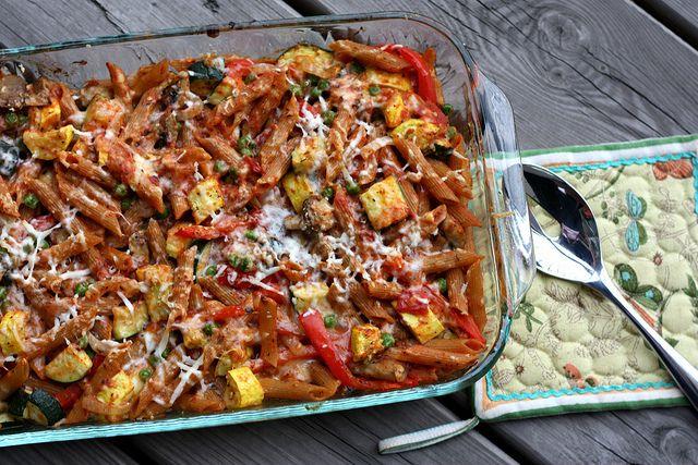 MeatlessMonday: Baked Penne with Roasted Vegetables (ellysaysopa.com)
