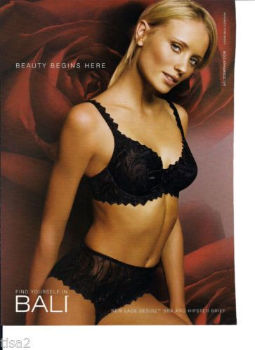 Lace Desire Black Bra & Hipster Panties BLONDE GIRL 2006 print Ad