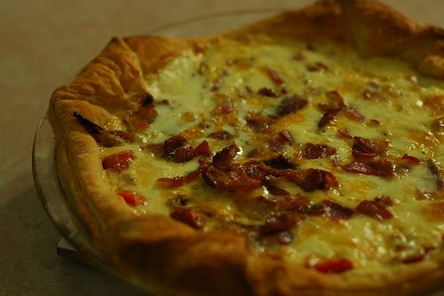 roasted red pepper, onion, bacon, and cheese tart (#249) by the ...