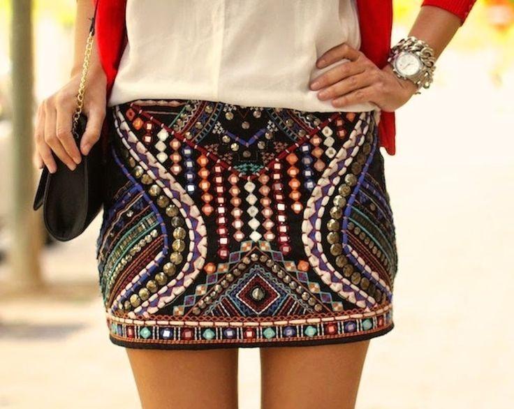 Zara Aztec Skirt Ebay 17