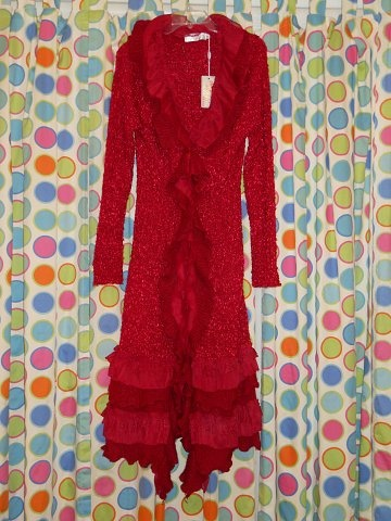 Red asym sweater coat duster fashion pinterest