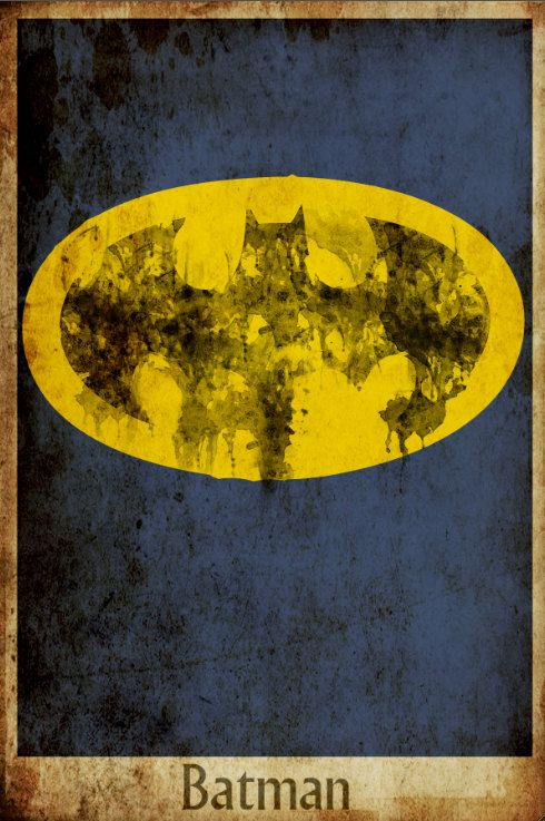 Batman movie poster minimalist poster movie print by Harshness. $19.00 USD, via Etsy.