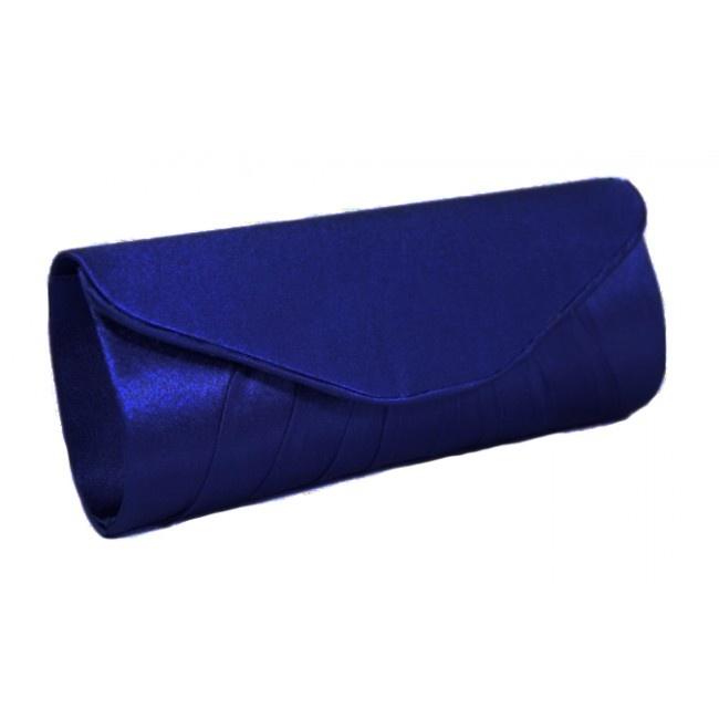 royal blue envelope satin clutch bag shoe moniac