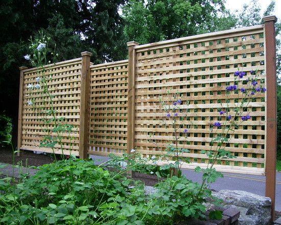 Pin by foo bar on garden ideas pinterest for Lattice garden fence designs