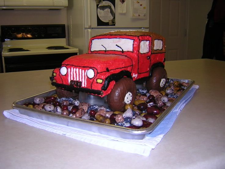 Jeep Birthday Cake Images : Pin by Marilyn Gandy on Cakes & Cupcakes Pinterest