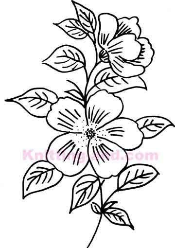 Hand drawn flower embroidery design patterns pinterest