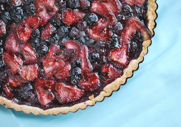 Blueberry and Strawberry Tart Recipe   Food and More Food   Pinterest
