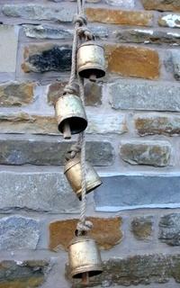 hanging cow bells