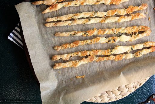 Parmesan and Herb Cheese Straws Recipe on Yummly