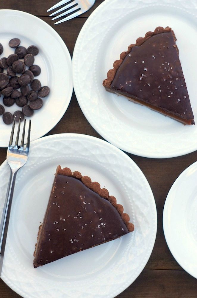 Chocolate Caramel Tart from Fearless Homemaker