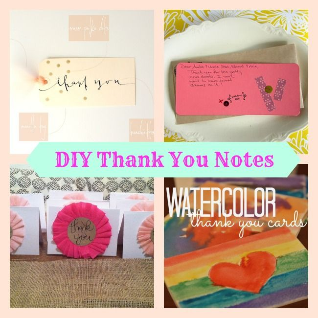 Cute Diy Thank You Cards The Image Kid